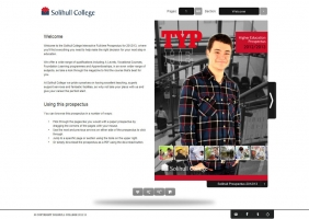 Solihull College interactive prospectus for HE 1