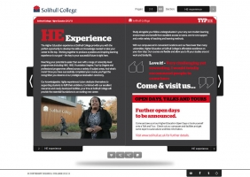Solihull College interactive prospectus for HE 2