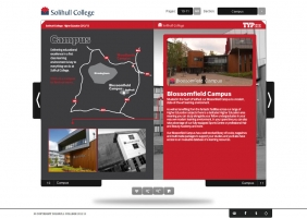 Solihull College interactive prospectus for HE 3